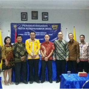 Penandatangan MoU STIE YAPAN - Bea Cukai (KPPBC) Tipe Madya Tanjung Perak Surabaya