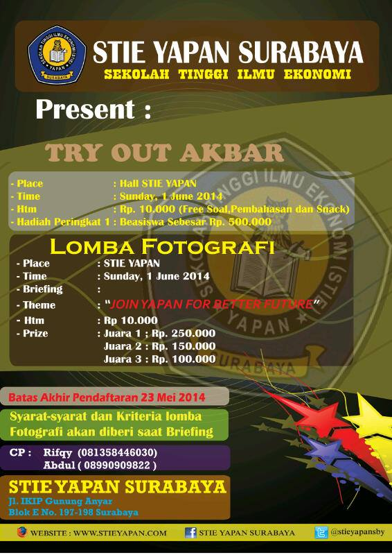 TRY OUT AKBAR 2014 & LOMBA FOTOGRAFI