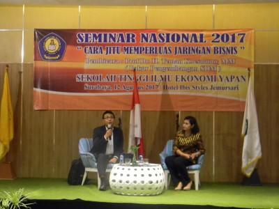 """Seminar Nasional 2017, """"Cara Jitu Memperluas Jaringan Bisnis"""""""