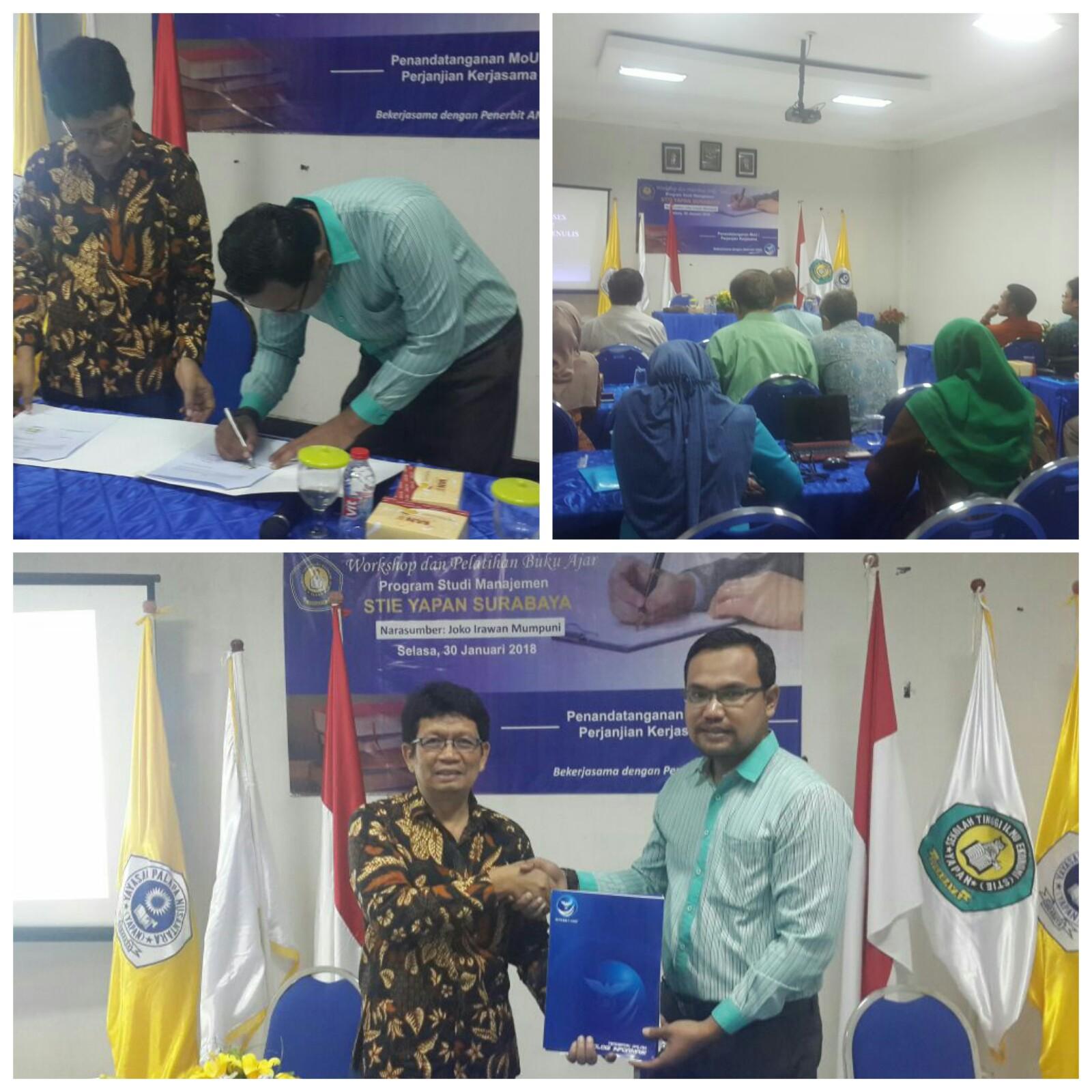 Workshop dan Pelatihan Buku Ajar Program Studi Manajemen STIE YAPAN SURABAYA