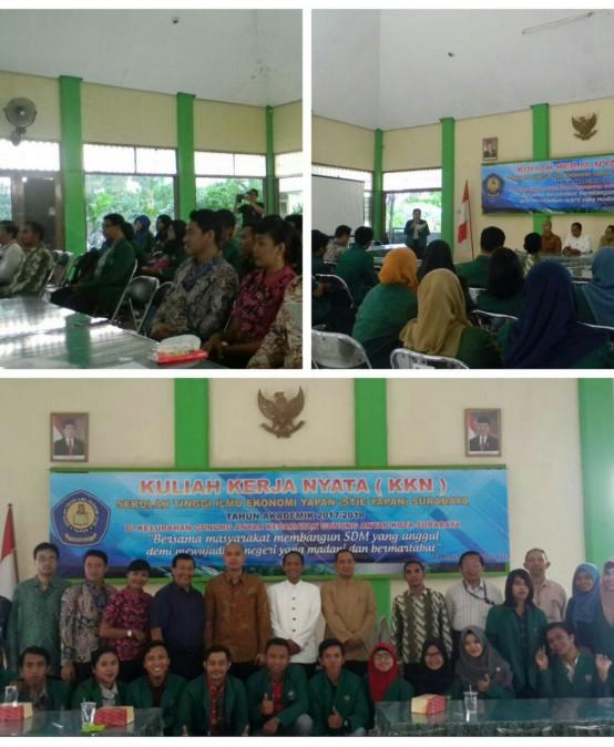 Pembukaan KKN Mahasiswa STIE YAPAN Surabaya Tahun Akademik 2017/2018