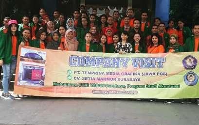Company Visit Mahasiswa STIE YAPAN Prodi Aku Akuntansi ke- PT. Temprina Media Grafika (Jawa Pos) Dan CV. Stia Makmur Surabaya